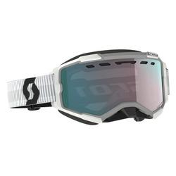 Scott Goggle Fury Snow Cross white enhancer aqua chrome